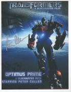 PETER CULLEN HAND SIGNED 8x11 COLOR PHOTO+COA     OPTIMUS PRIME     TRANSFORMERS