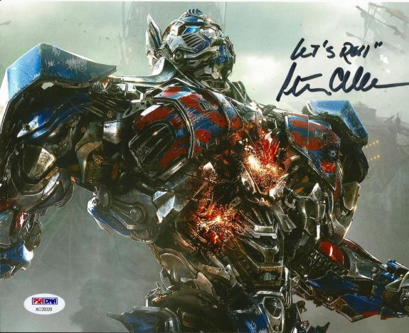 Peter Cullen Optimus Prime Transformers Signed 8x10 Photo PSA/DNA COA #3