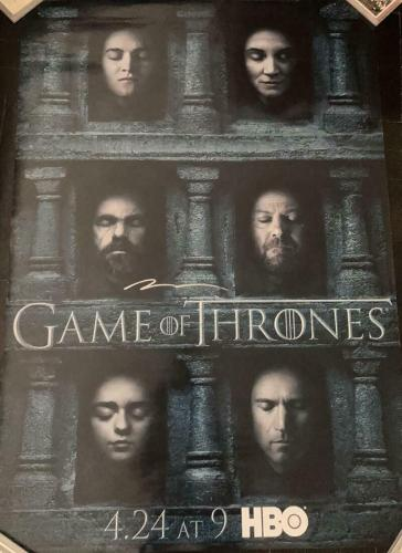 Peter Dinklage Game Of Thrones Signed Autograph Original Full Size Poster Coa B