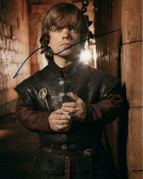 PETER DINKLAGE SIGNED AUTOGRAPH 8x10 PHOTO - TYRION LANNISTER GAME OF THRONES