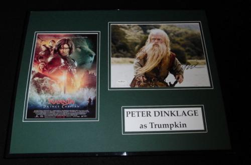 Peter Dinklage Signed Framed 16x20 Photo Set JSA Narnia Prince Caspian