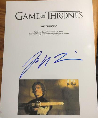 """Peter Dinklage Signed Full Autograph """"game Of Thrones"""" Tyrion Kills Tywin Script"""