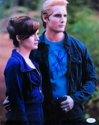 Peter Facinelli Elizabeth Reaser Dual Signed 11X14 Photo Twilight JSA F06864