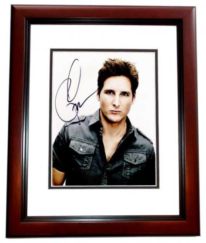 Peter Facinelli Signed - Autographed TWILIGHT Actor 8x10 inch Photo MAHOGANY CUSTOM FRAME - Guaranteed to pass PSA or JSA
