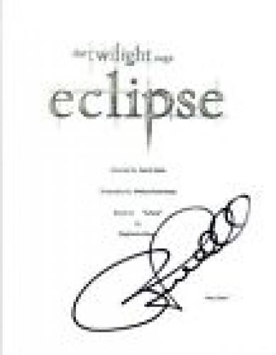 Peter Facinelli Signed Autographed TWILIGHT ECLIPSE Full Movie Script COA VD