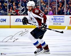 "Peter Forsberg Colorado Avalanche Autographed 16"" x 20"" Photograph with HOF 2014 Inscription"