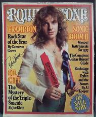 Peter Frampton Music Legend Signed Autographed 18x22 Rolling Stone Poster W/coa