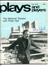 Peter Hall Royal Shakespeare Signed Autograph Plays And Players Photo Magazine