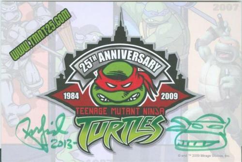 Peter Laird autographed Teenage Mutant Ninja Turtles postcard 3x5