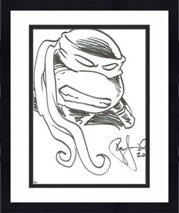 Peter Laird Ninja Turtles Autographed Signed 11x14 Sketch Certified BAS COA