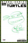 Peter Laird TEENAGE MUTANT NINJA TURTLES TMNT Signed Sketch Comic PSA/DNA COA #8