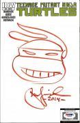 Peter Laird TEENAGE MUTANT NINJA TURTLES TMNT Signed Sketch Comic PSA/DNA COA A
