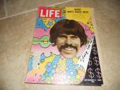 Peter Max Artist Signed Autographed 1969 Life Magazine Cover Photo PSA Guarantee