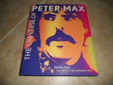 Peter Max The Universe Of Peter Max Book Signed Ny 11/19/13 To Dan Psa Guar