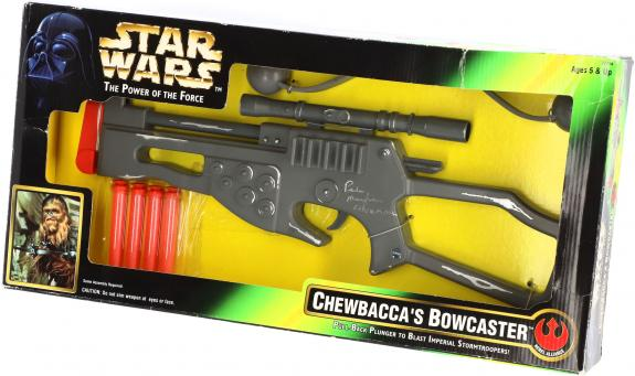 Peter Mayhew Autographed Chewbacca Toy Bowcaster