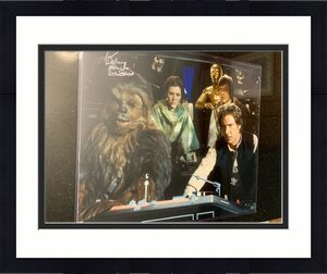 Peter Mayhew Autographed Signed Star Wars Millennium Falcon 16x20 Photo Steiner