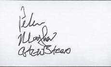 Peter Mayhew Signed 3x5 Blank Index Card Star Wars Autograph Jsa Coa