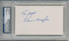 Peter Mayhew Signed Autographed Psa Dna  Index Card