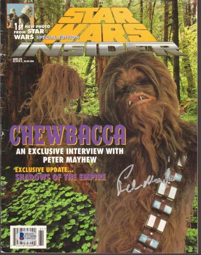 PETER MAYHEW Signed Autographed Star Wars Insider Magazine BECKETT BAS #C12430