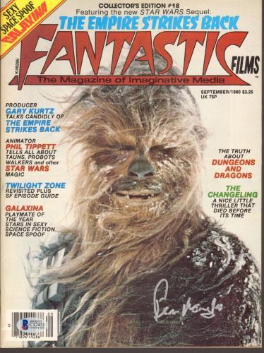PETER MAYHEW Signed Autographed Star Wars Magazine BECKETT BAS #C12431