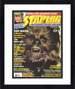 "PETER MAYHEW Signed Autographed Star Wars ""STARLOG"" Magazine BECKETT BAS #C12429"