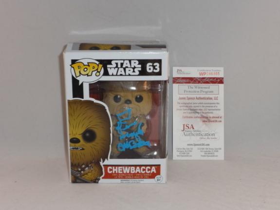 Peter Mayhew Signed Chewbacca Star Wars Funko Pop Jsa