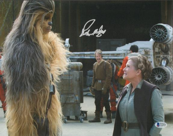 "PETER MAYHEW Signed  STAR WARS ""Chewbacca"" 11x14 Photo BECKETT BAS #C12455"