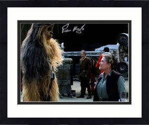 "PETER MAYHEW Signed  STAR WARS ""Chewbacca"" 11x14 Photo BECKETT BAS #D55753"