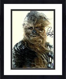 "PETER MAYHEW Signed  STAR WARS ""Chewbacca"" 11x14 Photo BECKETT BAS #D55764"