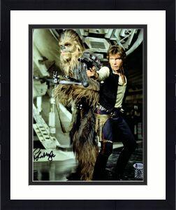 "PETER MAYHEW Signed  STAR WARS ""Chewbacca"" 11x14 Photo BECKETT BAS #F04269"