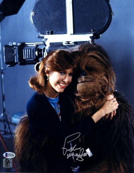 "PETER MAYHEW Signed  STAR WARS ""Chewbacca"" 11x14 Photo BECKETT BAS #F04290"