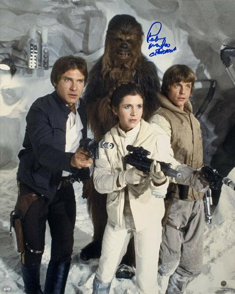 Peter Mayhew Signed Star Wars Chewbacca Empire Strikes Back 16x20 Photo Steiner
