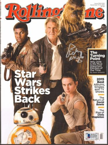 PETER MAYHEW Signed Star Wars ROLLING STONE Magazine BECKETT BAS #C12435