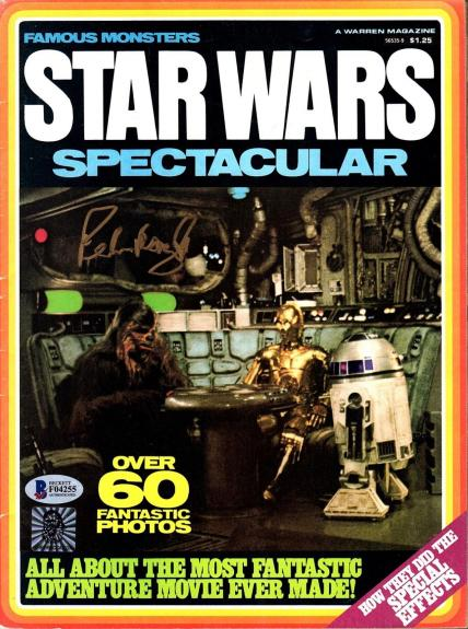 "PETER MAYHEW Signed Star Wars ""SW SPECTACULAR"" Magazine BECKETT BAS #F04255"