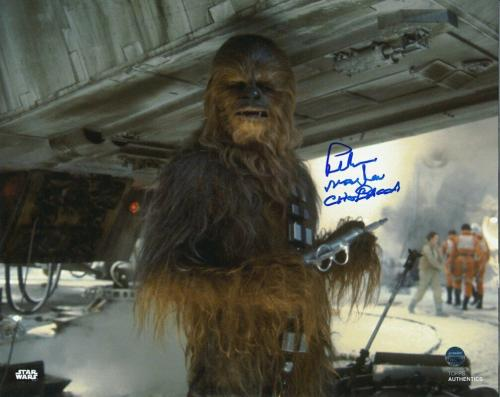 Peter Mayhew Signed/Autographed STAR WARS Chewbacca 8x10 Photo Steiner 143671