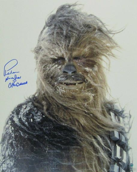Peter Mayhew Star Wars Chewbacca Autographed/Signed 16x20 Photo Steiner 135985