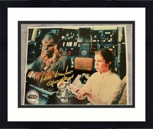 Peter Mayhew Star Wars Chewbacca Signed Autographed 8x10 Color Photo