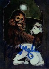 Peter Mayhew Star Wars Chewbacca Signed Trading Card Topps Finest #8 Id #31972