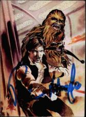 Peter Mayhew Star Wars Chewbacca Signed Trading Card Topps Finest #matrix 1 Id #