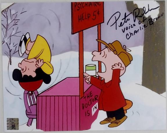 "Peter Robbins Autograph ""Voice Of Charlie Brown"" Signed 8x10 Photo w/ PR Holo B"