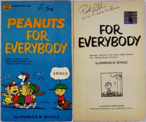Peter Robbins Charlie Brown Signed Peanuts For Everybody Book OCDugout Exclusive