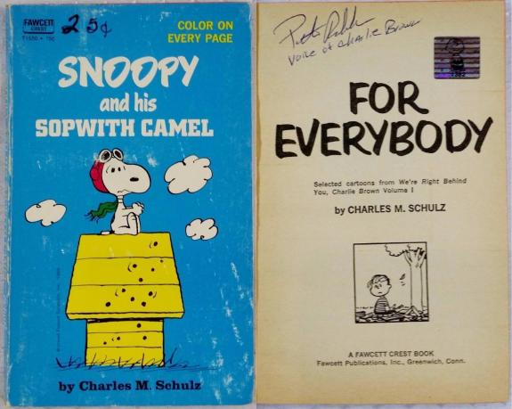 Peter Robbins Charlie Brown Signed Snoopy And His Sopwith Camel Book Autograph