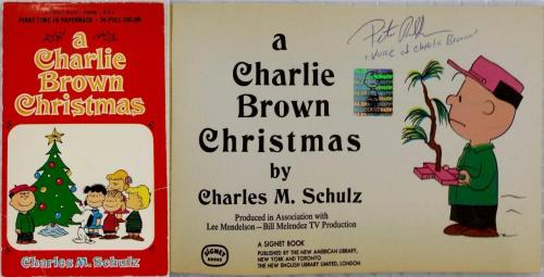 Peter Robbins Signed A Charlie Brown Christmas Book OC Dugout Exclusive Auto