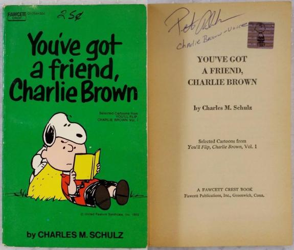 Peter Robbins Signed Charlie Brown All This and Snoopy, Too Book OCD Exclusive