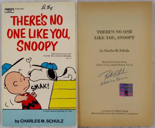 Peter Robbins Signed Charlie Brown There's No One Like You Snoopy Book Exclusive