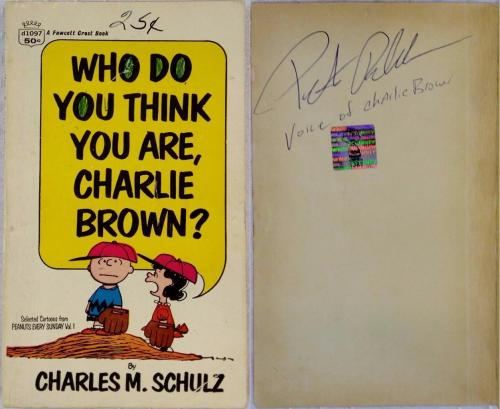Peter Robbins Signed Who Do You Think You Are Charlie Brown Book OCD Exclusive