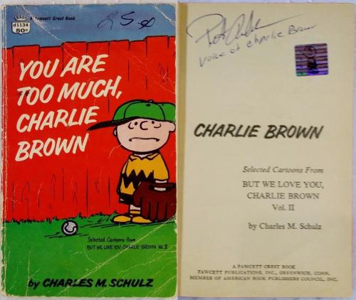 Peter Robbins Signed You Are Too Much Charlie Brown Book OC Dugout Exclusive