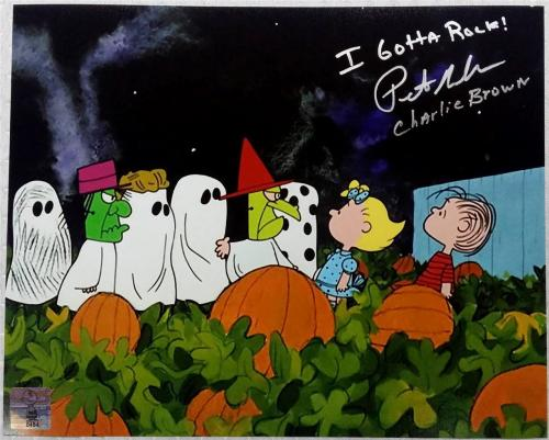 Peter Robbins Voice Of Charlie Brown Signed 8x10 Photo OC Dugout Exclusive (I)