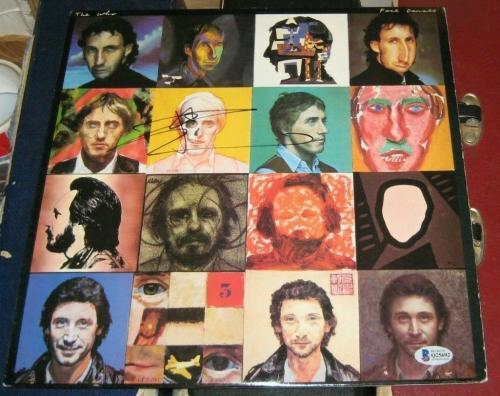Peter Townsend The Who Signed Autographed 1981 Face Dances Vinyl Album Bas