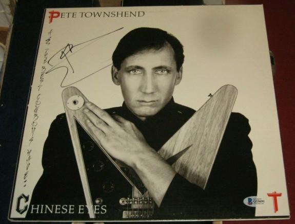 Peter Townsend The Who Signed Autographed All Cowboys Have Chinese Eyes Album
